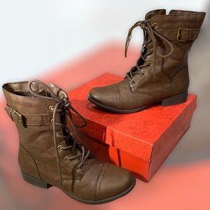 American Rag CIE Dark Brown Buckle Boots Size 9